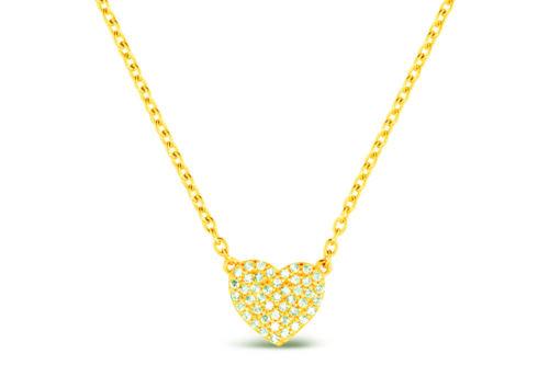 Leposa Kette Herz gelb vergoldet