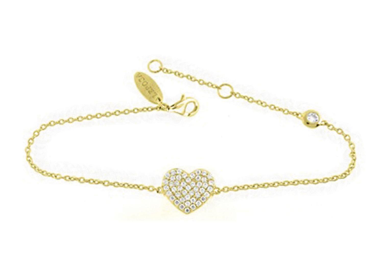 Leposa Armband Herz gelb vergoldet