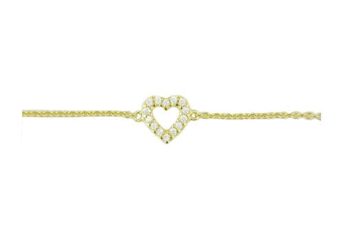 LEPOSA Silber Herz Armband