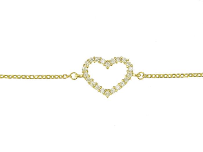Leposa Armband Gelbgold Herz